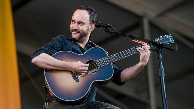 Dave Matthews performs at the New Orleans Jazz and Heritage Festival on Friday, May 5, 2017, in New Orleans. (Photo by Amy Harris/Invision/AP)