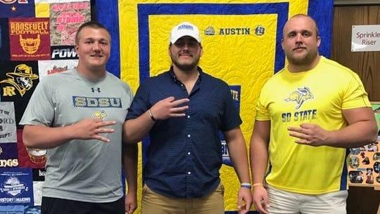 Mason McCormick (L), Austin Boen and Grant Schmidt