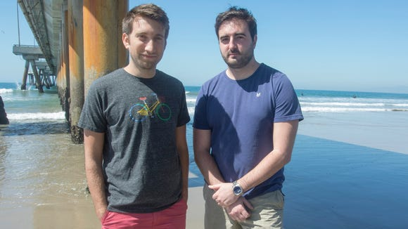 "Gavin Free and Daniel  Gruchy, AKA ""The Slow Mo Guys."""