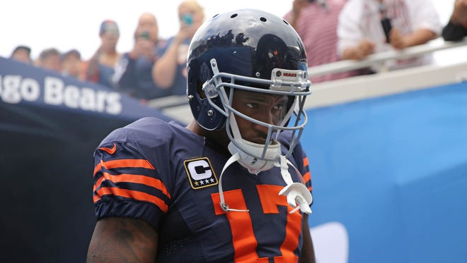Chicago Bears wide receiver Alshon Jeffery (17) prior to a game against the Detroit Lions at Soldier Field.
