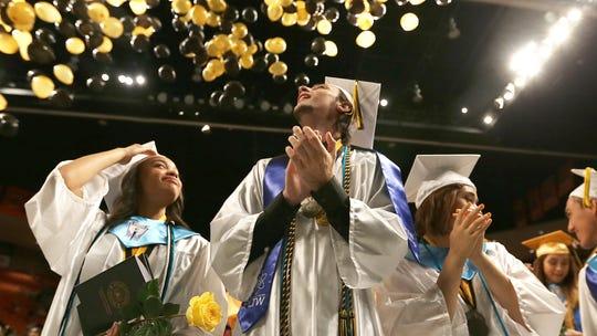 Balloons descend upon Parkland High School graduates