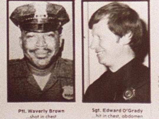 "Nyack Police Officer Waverly ""Chipper"" Brown, left, and Sgt. Edward O'Grady were murdered Oct. 20, 1981, at a Nyack roadblock during robbery of a Brinks truck."