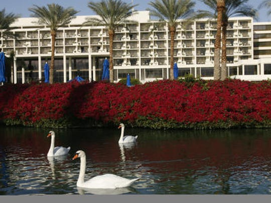 This Desert Sun file photo shows the JW Marriott Desert Springs Resort & Spa in Palm Desert. Four suspects were arrested there following an assault that left an employee injured in June.