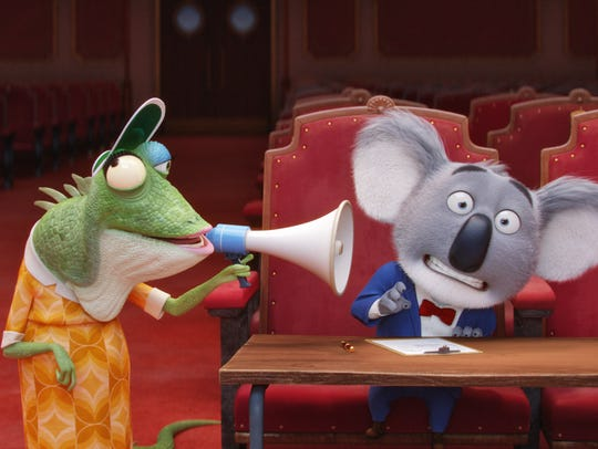 Buster (right, voiced by Matthew McConaughey) and Miss