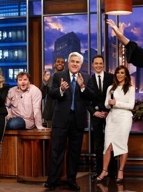 Kardashian was one of many celebs to appear on Jay Leno's final show on Feb. 6, 2014, along with Carol Burnett, Sheryl Crow, Jack Black, Jim Parsons and Oprah Winfrey.
