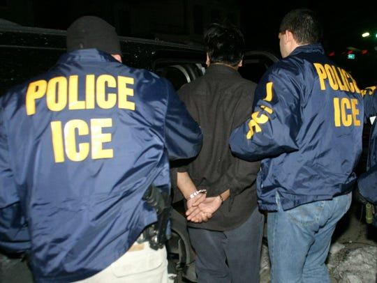 Immigration and Customs Enforcement in action.