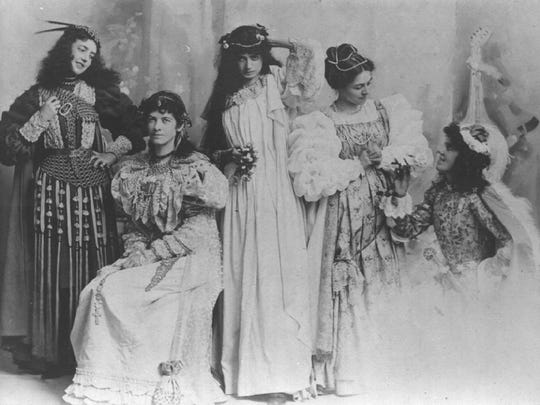 Evaleen Stein (second from left) and other local women add a dramatic touch around 1890. Stein was an artist and poet in the late 19th and early 20th centuries.