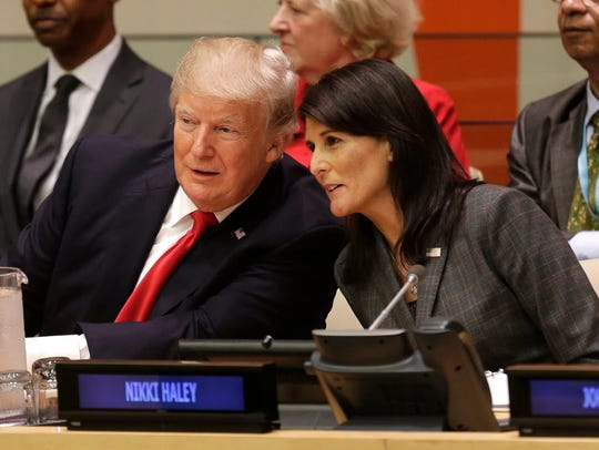 President Trump and U.S. Ambassador to the United Nations