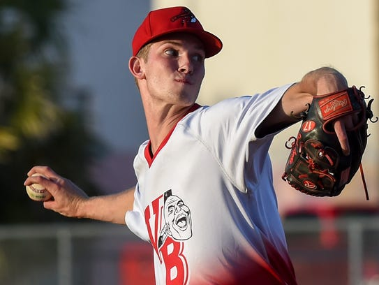 Vero Beach's David Luethje pitches Friday, April 6,