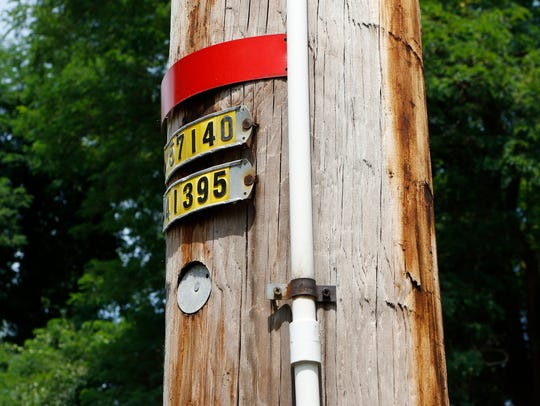 Part of the Eruv along Viola Road in Monsey on Wednesday,
