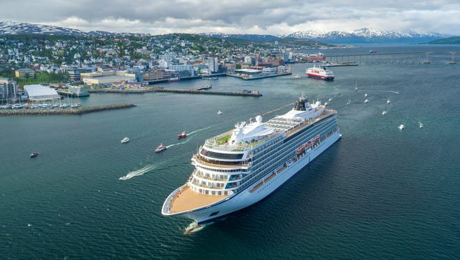 Like Viking Sky, shown here in Tromso, Norway, Viking Sun will be an upscale ship designed for destination-intensive voyages around the globe.