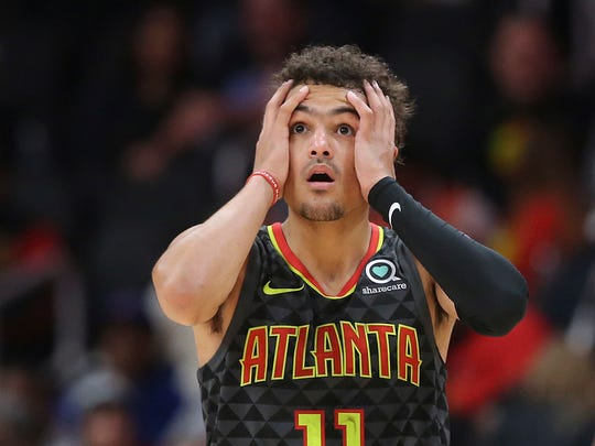 Hawks rookie guard Trae Young.
