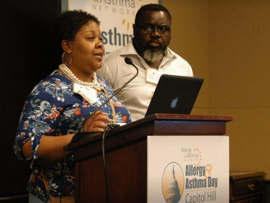 Tammy and Corey Bailey speak at Allergy and Asthma Day in Washington DC.