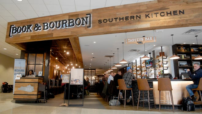 Books & Bourbon Southern Kitchen at the Louisville International Airport.  Dec. 15, 2017