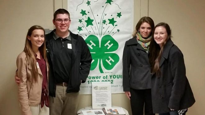 Cumberland County 4-H members (from left) Heather Koering of Vineland, Cole Killeen of Pittsgrove, Nikayla Hetzell of Pittsgrove and Anna Callavini of Bridgeton.