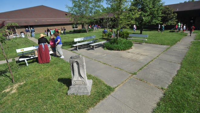 The courtyard at Garrison Elementary School during an event to celebrate the 40 years of the school in May 2012.