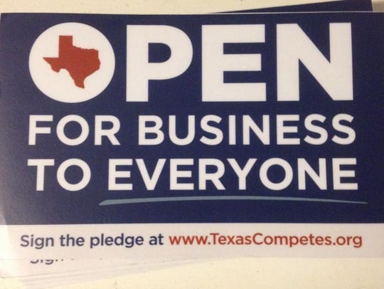 Texas Competes has window stickers for Texas businesses