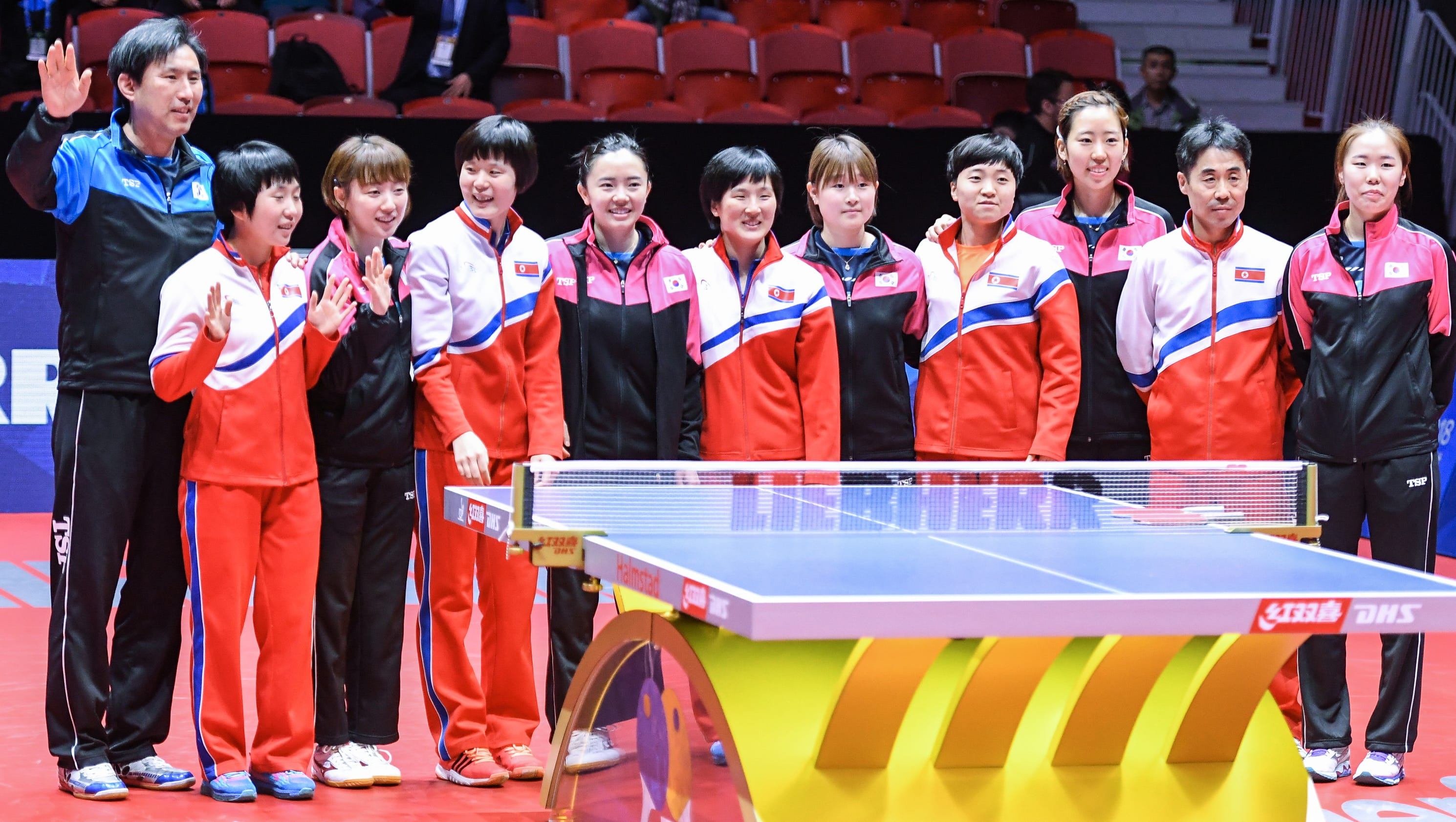 North korea south korea to compete with unified table tennis team - World table tennis championships ...