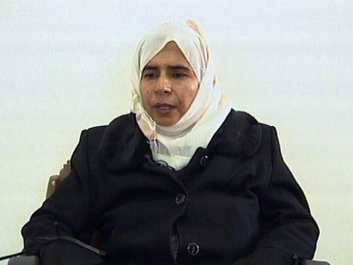 In this  Nov. 13, 2005 file photo, Sajida al-Rishawi