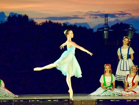 Dancer Karen Licari performs with Alabama Dance Theatre