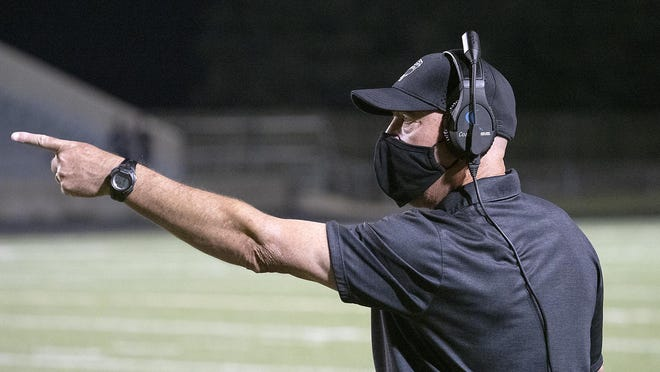 Bowie head coach Jeff Ables led the Bulldogs to a 35-22 win over Del Valle Friday.