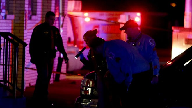 Police investigate the deaths of two people on Winston Avenue just off Maryland Avenue in Elmhurst reported shortly before 10 p.m. Wednesday.