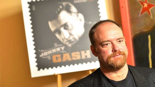 John Carter Cash attends the Johnny Cash Limited-Edition Forever Stamp launch at Ryman Auditorium on June 5, 2013 in Nashville, Tennessee.