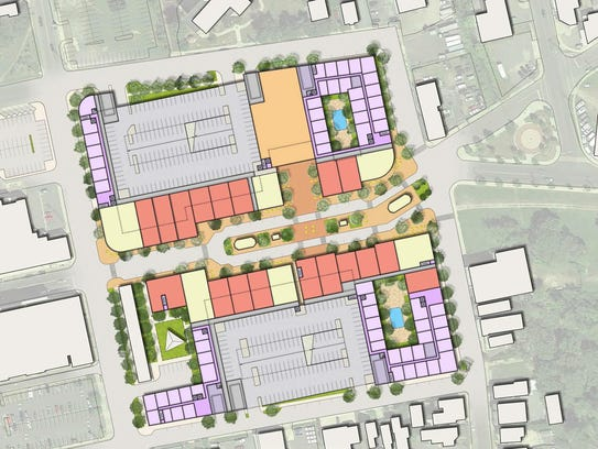 An overview of the redevelopment planned for lower Broadway in Long Branch.