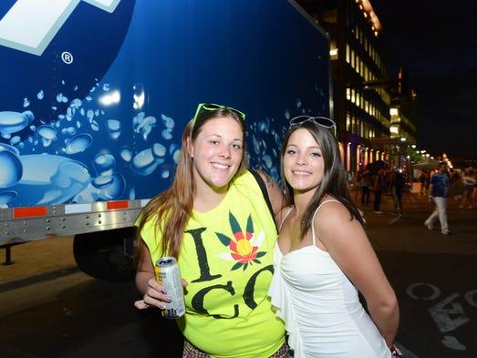 Amanda Jones, 22, and, Brandi Martin, 21, at 515 Alive