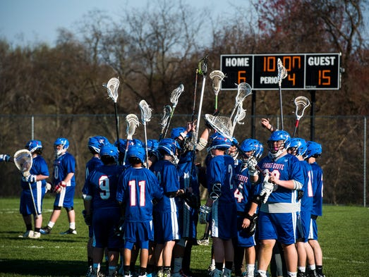 Spring Grove gathers during the beginning of the final
