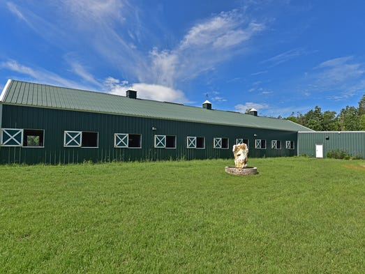 1439 Wallace Lake Road, the 20-stall horse barn.