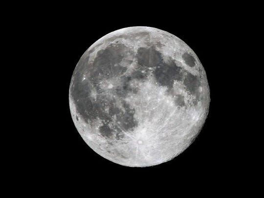 Clear shot of the Supermoon in Brewster Sunday, Aug 10.