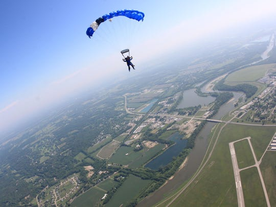 John Gillespie of Florence went skydiving with family