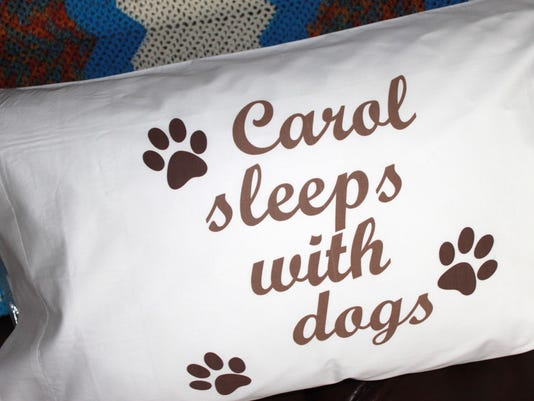UPPERCASES Sleeps with Dogs Personalized
