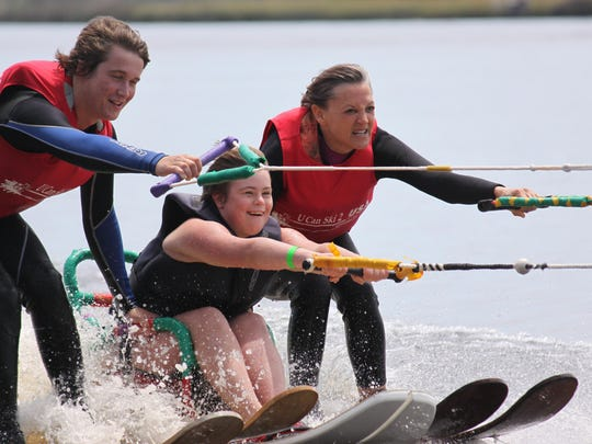 Waterskiing for everyone at SportsAbility, which takes