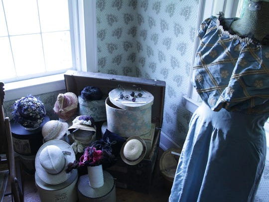 The fashion room at the Noyes House Museum in Morrisville.