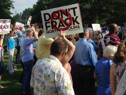 AP FRACKING HEARING A USA NC
