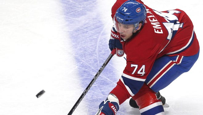 Montreal Canadiens defenseman Alexei Emelin is $5,000 poorer after his illegal hit on Pascal Pelletier.