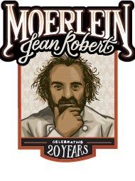 The logo of JeanRo Beer, from the Moerlein Lager House, celebrating Jean-Robert de Cavel's 20 years in Cincinnati