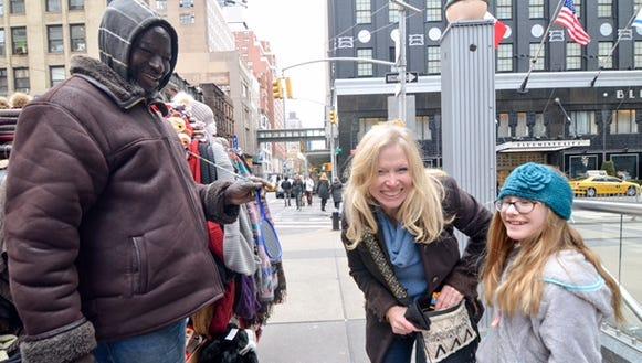 Charline street shopping.