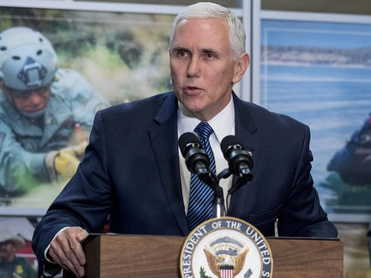 Vice President Mike Pence, speaking here in January, will attend a fundraiser and will speak with automakers and suppliers.