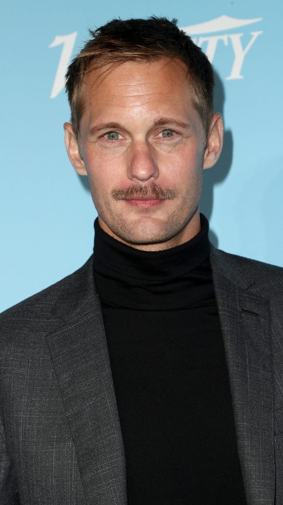 The difference a month can make: Skarsgård attended