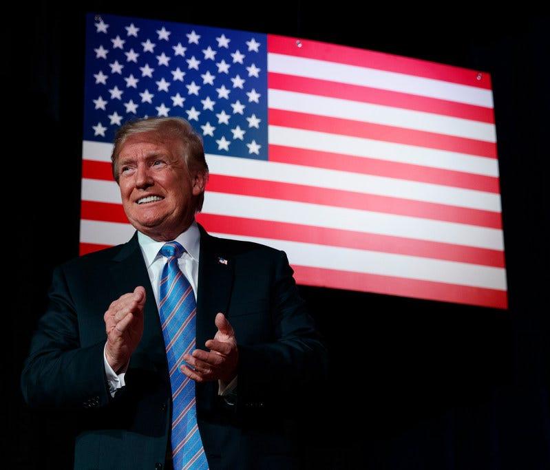 President Donald Trump in White Sulphur Springs, West Virginia, on July 3, 2018.