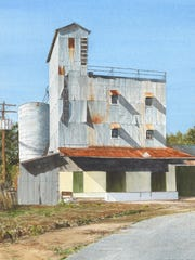 """William McKeown's """"Tin Castle"""" (shown here) and one of nationally recognized North Florida painter Dean Mitchell's original artworks, """"Carrie Mae,"""" are included when the """"46th Florida Watercolor Society Traveling Exhibition"""" opens."""