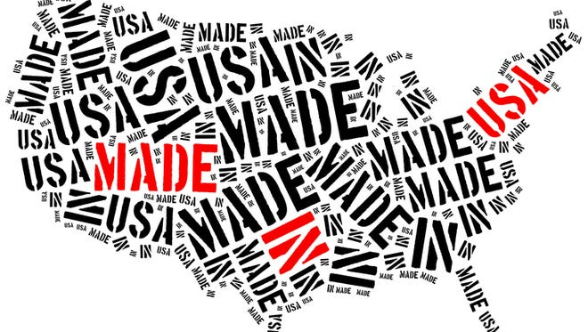 Made in USA. Label on manufactured product.