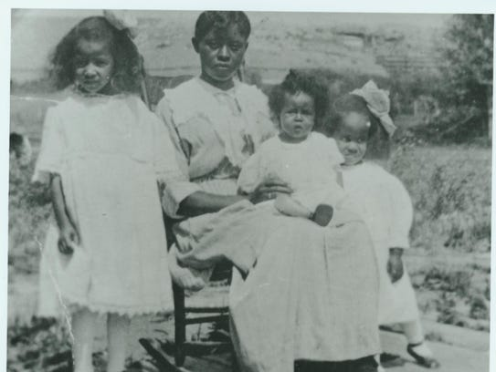 Great Falls librarian Alma Jacobs, at far right, is