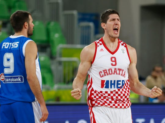 Croatian shooter Damjan Rudez (right) should help the Pacers 3-point shooting.