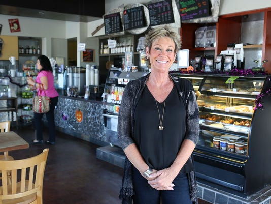 Kerry Anderson of Sip Coffee House and Juice Bar in Indio