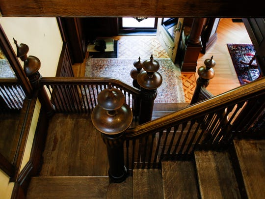 The staircase in the home of Bill and Nancy DeFrance in downtown Eaton Rapids.