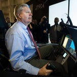 Senator Lindsey Graham operates a T-50A cockpit demonstrator at Lockheed Martin Greenville Operations on Monday, February 29, 2016.